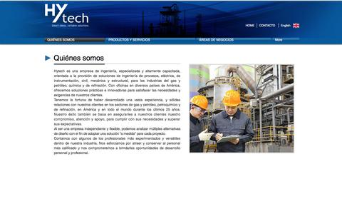 Screenshot of About Page hytech.com.ar - Hytech | QUIÉNES SOMOS - captured May 24, 2017