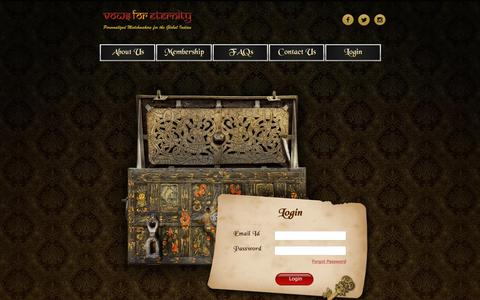 Screenshot of Login Page vowsforeternity.com - Welcome to Vows for Eternity - captured Nov. 17, 2018