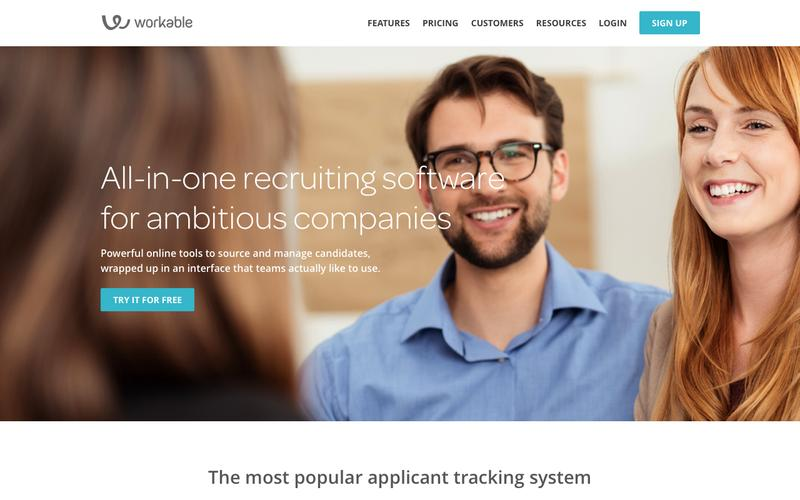 Screenshot Online Recruitment Software: Hiring, Recruiting, Applicant Tracking | Workable