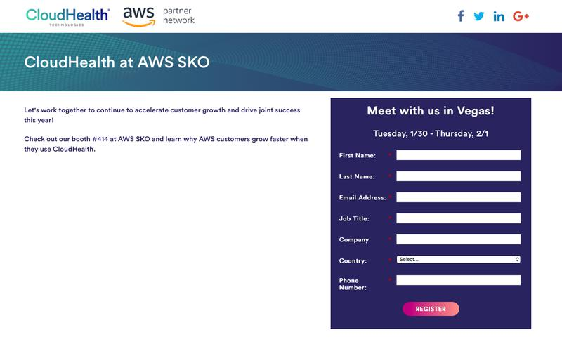 Meet with us at AWS SKO!