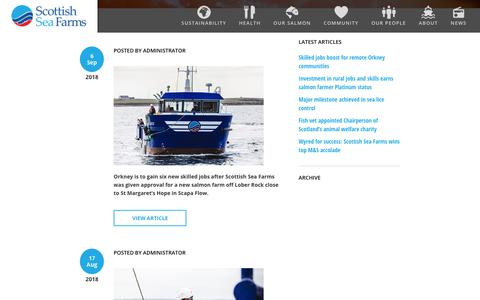 Screenshot of Press Page scottishseafarms.com - News | Scottish Sea Farms - captured Sept. 21, 2018