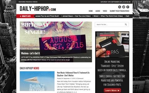 Screenshot of Home Page daily-hiphop.com - The #1 Source For New Hip Hop! » Daily-HipHop.com - captured Sept. 19, 2015