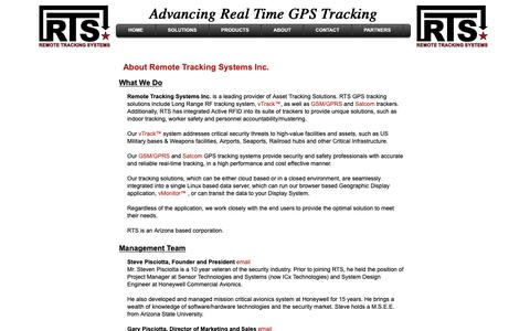 Screenshot of About Page remotetrackingsystems.com - About Us - captured Oct. 18, 2018