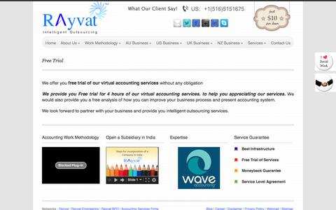 Screenshot of Trial Page rayvataccounting.com - Free trial Bookkeeping services, Free 10 Hours for Bookkeeping Services | - captured Jan. 10, 2016