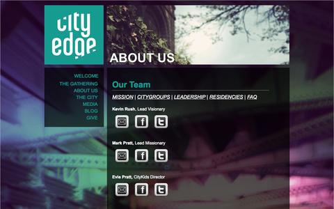Screenshot of Team Page cityedge.org - Our Team | CityEdge Christian Church | CityEdge - captured Oct. 2, 2014