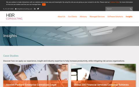 Screenshot of Case Studies Page hbrconsulting.com - Case Studies | HBR Consulting - captured Sept. 25, 2018