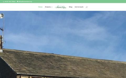 Screenshot of Home Page harwesfarm.org - Home - Harwes Farm CIC - captured Jan. 26, 2016