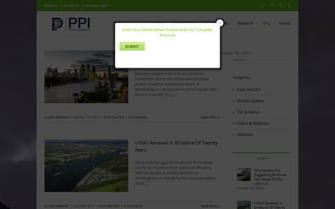 Screenshot of Blog ppiinvestmentadvice.com.au - Portfolio Property Investments Blog - Portfolio Property Investment - captured Oct. 8, 2014