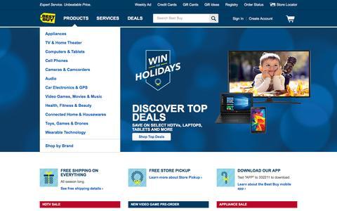 Screenshot of Home Page bestbuy.com captured Nov. 9, 2015
