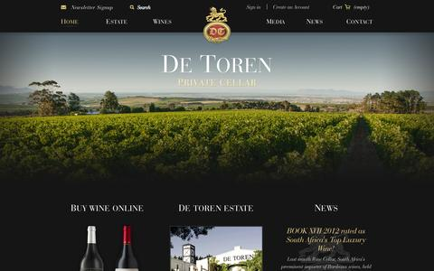 Screenshot of Home Page de-toren.com - Home  - De Toren Private Cellar - captured Jan. 23, 2015