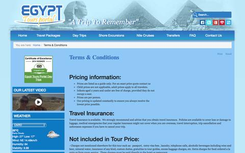 Screenshot of Terms Page egypttoursportal.com - Terms & Conditions - captured Oct. 28, 2014