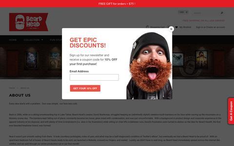 Screenshot of About Page beardhead.com - Beard Hats and Beanies - Beard Head - About us – Beard Head® - captured Nov. 13, 2018