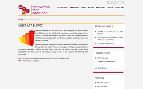 Screenshot of Maps & Directions Page motivationmapsolutions.com - What Are Maps? - MotivationMapSolutions.com - captured Oct. 26, 2014