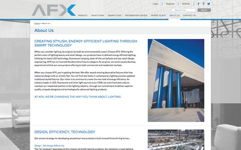 Screenshot of About Page afxinc.com - About Us - captured Sept. 30, 2014