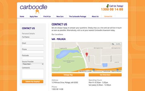 Screenshot of Contact Page carboodle.com.au - Contact Us   Carboodle   New and Used Cars - captured Nov. 2, 2014