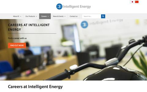 Screenshot of Jobs Page intelligent-energy.com - Careers | Intelligent Energy - captured Aug. 24, 2018
