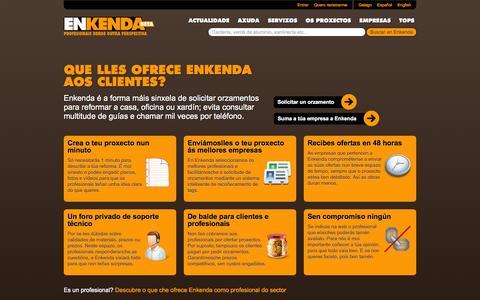 Screenshot of Services Page enkenda.com - Enkenda - Servizos - captured Sept. 30, 2014