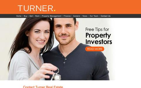 Screenshot of Contact Page turnerrealestate.com.au - Contact Us | Turner Real Estate | Adelaide - captured Sept. 28, 2016