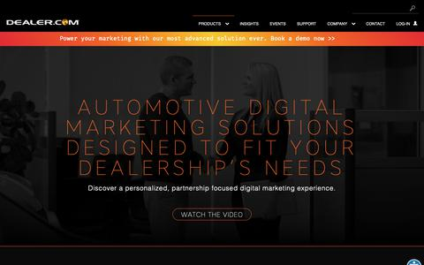 Screenshot of Products Page dealer.com - Automotive Digital Marketing Solutions | Dealer.com - captured Feb. 12, 2019