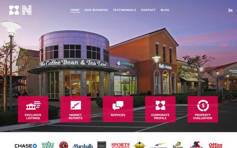Screenshot of Home Page baziak-dunn.com - Home - Commercial Real Estate - The Baziak Group - captured April 1, 2015