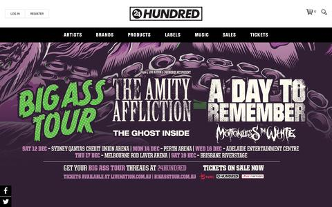 Screenshot of Home Page 24hundred.net - A Day To Remember – 24Hundred - captured Sept. 27, 2015