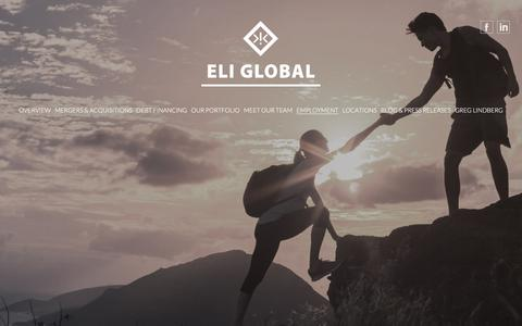 Screenshot of Jobs Page eliglobal.com - Career Opportunities, Available Jobs – Eli Global | Home - captured July 17, 2018