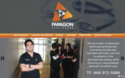 Screenshot of Home Page paragonhealthcare.com - Paragon Healthcare - - captured Sept. 24, 2015