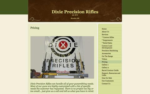 Screenshot of Pricing Page 1000yardhunter.com - Dixie Precision Rifles - Pricing - captured Oct. 5, 2014