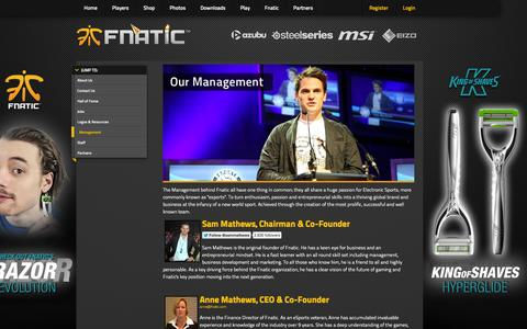 Screenshot of Team Page fnatic.com - FNATIC.com - captured Nov. 3, 2014