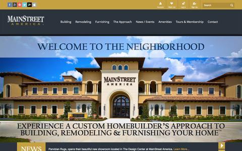 Screenshot of Home Page mainstreetamerica.com - MainStreet America - captured Dec. 21, 2015