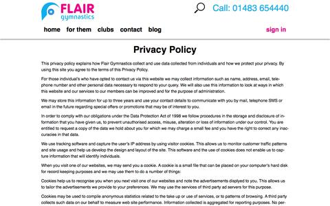 Screenshot of Privacy Page ukflair.com - Privacy Policy | UK Flair - captured Nov. 25, 2016