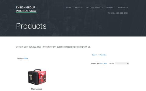 Screenshot of Products Page ensigngroupintl.com - Products   Ensign Group International - captured Nov. 8, 2016