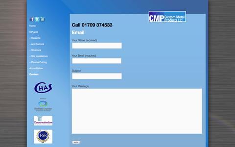Screenshot of Contact Page cmp-ltd.uk.com - Contact | - captured Oct. 3, 2014
