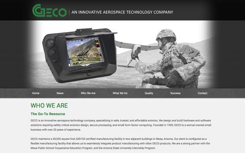 Screenshot of About Page gecoinc.com - Who We Are | GECO - captured Sept. 25, 2018