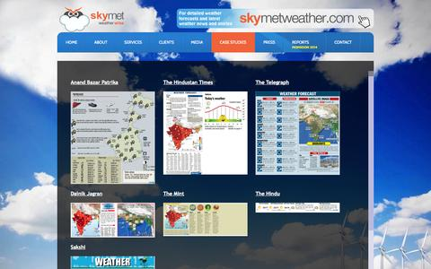 Screenshot of Case Studies Page skymet.net - Skymet Weather Services - Casestudies - captured Oct. 7, 2014