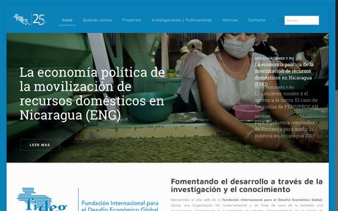 Screenshot of Home Page fideg.org - Fundación Internacional para el Desafío Económico Global - captured June 5, 2017