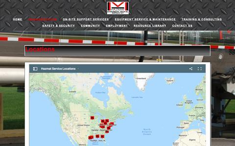 Screenshot of Locations Page hazmatinc.com - Locations — HazMat Environmental Group, Inc. - captured Sept. 27, 2018