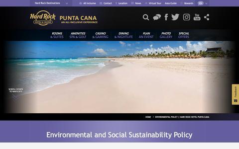 Environmental Policy | Hard Rock Hotel Punta Cana