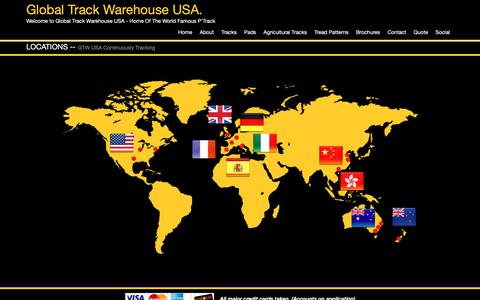 Screenshot of Locations Page gtwusa.net - Rubber track, steel track, rubber pad supplier - Global Track Warehouse - captured Sept. 28, 2018