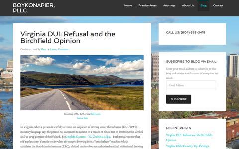 Screenshot of Blog boykonapier.com - Blog - BoykoNapier, pllc - captured Nov. 23, 2016
