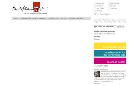 Screenshot of Support Page eastalabamaarts.org - East Alabama Arts - captured Oct. 4, 2014
