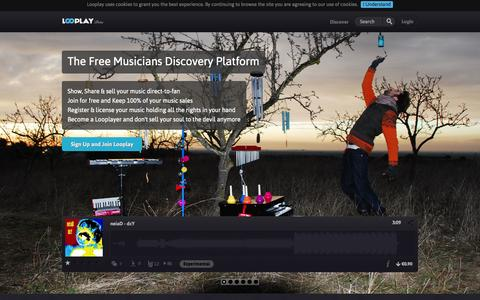Screenshot of Home Page looplay.com - Looplay - captured Oct. 3, 2014