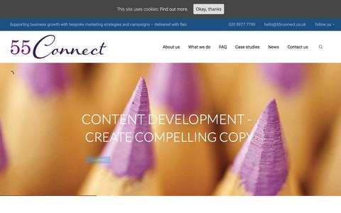 Screenshot of Home Page 55connect.co.uk - Home - 55 Connect - captured Sept. 21, 2018