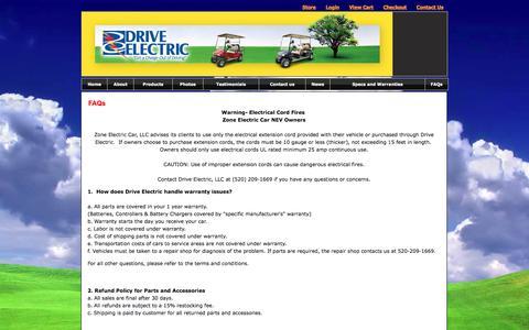 Screenshot of FAQ Page driveelectric.com - Free Electric Car   Just Drive Electric - FAQs - captured Dec. 26, 2016