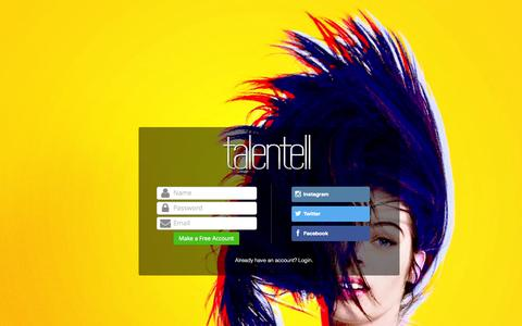Screenshot of Signup Page talentell.com - Talentell - Join - captured Oct. 29, 2014