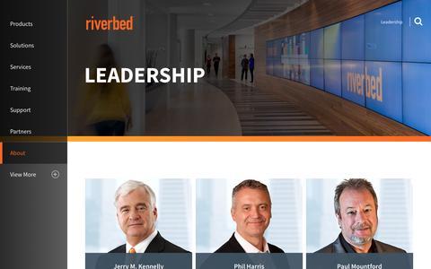Screenshot of Team Page riverbed.com - Leadership | Riverbed | US - captured July 3, 2016