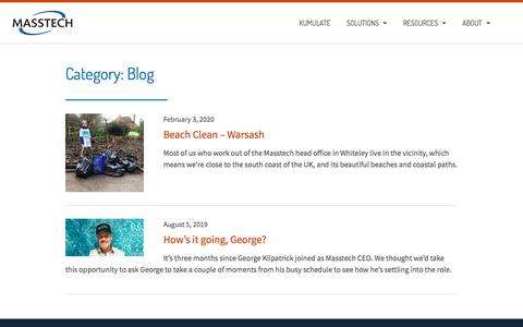 Screenshot of Blog masstech.com - Blog – Masstech | storage management solutions | media workflow tools - captured Feb. 20, 2020