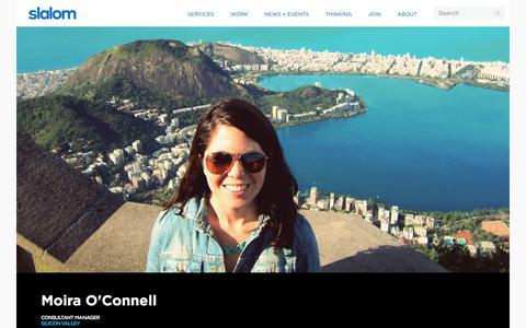 Screenshot of Team Page slalom.com - Moira O'Connell | Slalom - captured Jan. 20, 2018