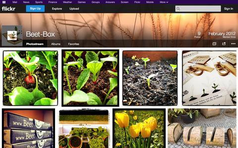 Screenshot of Flickr Page flickr.com - Flickr: Beet-Box's Photostream - captured Oct. 23, 2014