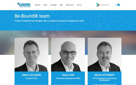 Screenshot of Team Page be-bound.com - Be-Bound - captured Oct. 5, 2014